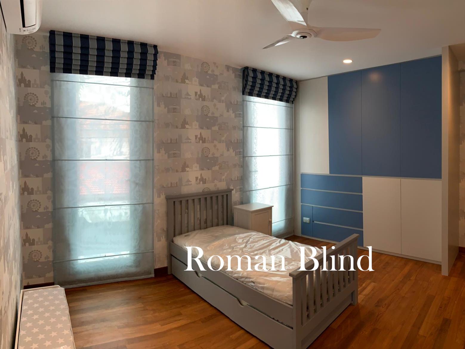 Greenfield Drive Roman Blind 06