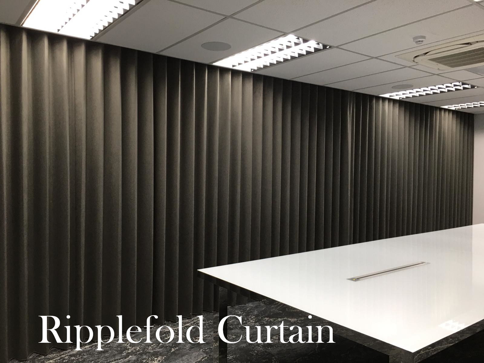 Pandan Crescent Ripplefold Curtain 01